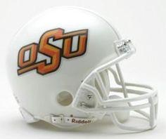 Oklahoma State Cowboys Replica Mini Helmet w/ Z2B Mask #OklahomaStateCowboys