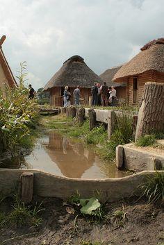 Vikings:  Reconstruction of #Viking #village in Haithabu (Hedeby), #Germany.