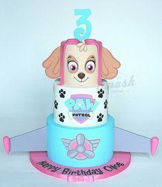 Skype from Paw Patrol Paw Patrol Sky Cake, Paw Patrol Birthday Cake, 3rd Birthday Cakes, Barbie Birthday, Paw Patrol Party, Minnie Birthday, 3rd Birthday Parties, Cake Disney, Second Birthday Ideas