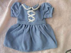 BLEUETTE:Robe en serge bleu gris fabrication originale Gautier Languereau