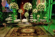 Decoração de casamento sofisticado e clássico Branco e verde (5)