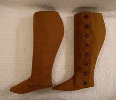 How to Make Two-Layer Spats or Gaiters, by Sidney Eileen    Tutoriel de guêtres en tissu à porter par dessus des chaussures-   Par Sydney Eleen