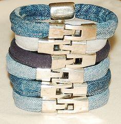 jeans&cotton bracelets Jeans, Bracelets, Cotton, Bracelet, Denim, Arm Bracelets, Bangle, Bangles, Denim Pants