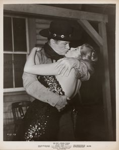 ALIAS JESSE JAMES (1959) - Bob Hope kisses Rhonda Fleming - United Artists - Publicity Still.