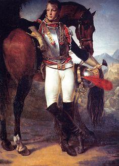 More officers with horse. Antoine-Jean Gros Portrait du fils du général Legrand 1810