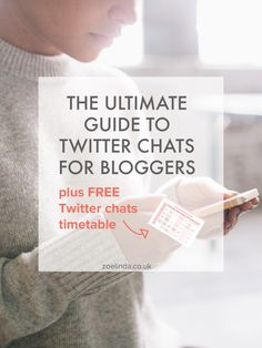 The Ultimate Guide to Twitter Chats for Bloggers Plus Free Timetable | Boost your blog on Twitter by taking part in these Twitter Chats for bloggers. Click through to download my free printable timetable and never miss another chat!