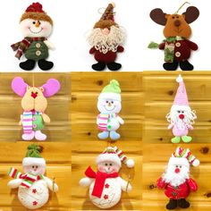 Christmas Xmas Doll Decor Santa Claus Snowman Hanging Tree Ornament Gift 10Types #Unbranded