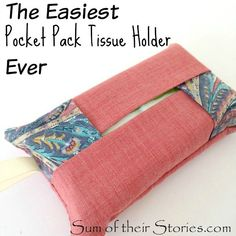 Pocket pack tissue holder. Gloucestershire Resource Centre http://www.grcltd.org/home-resource-centre/