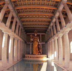 Interior of Parthenon 3D Reconstruction Εσωτερικό Παρθενώνα - Ψηφιακή αναπαράσταση