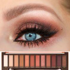 Smokey Eye Look Urban decay Naked Heat Palette | Naked Heat Palette Tutorial | Copper and Burgundy Eyeshadows