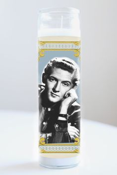 """Jerry Lee Lewis  Saint Jerry Lee Lewis featured on Illuminidol's Texas-made 8"""" prayer candle. The most divine way to bless any Jerry Lee disciple!  Texas Made 8"""" in height Unscented Ships anywhere in the US via Priority Mail International Shipping? Please contact info@illuminidol.com Custom and Wholesale options available  #jerrylewis #jerryleelewis #singer #music #rock #popular #famous #celebrities #pray #candles #art #memes #blessed #lit #fire #funny #lol #austin #texas #local #business"""