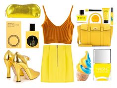 Something Yellow by ivana-andrejic on Polyvore featuring polyvore fashion style Dsquared2 Gucci Mulberry Comme des Garçons Rodin Ralph Lauren Marc Jacobs Rodo FOREO clothing yellow