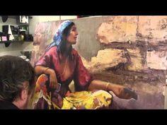Пишем цыганку, научиться писать женский образ, мало, картина на заказ, уроки Сахарова - YouTube