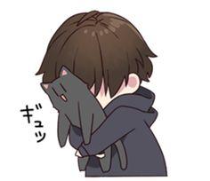 Chibi Boy, Cute Anime Chibi, Cute Anime Guys, Kawaii Anime Girl, Kawaii Drawings, Cute Drawings, Anime Oc, Manga Anime, Anime Grim Reaper