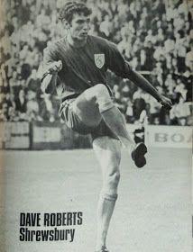 Dave Roberts of Shrewsbury Town in 1968.