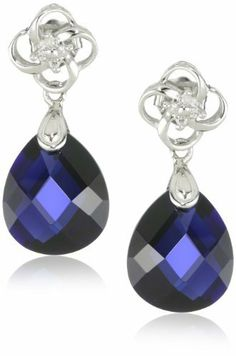 10k White Gold Created Blue Sapphire Briolette and Diamond Dangle Earrings Amazon Curated Collection, http://www.amazon.com/dp/B001CSCXCC/ref=cm_sw_r_pi_dp_gzpSqb0E4SXFK
