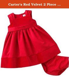 7fcd29189109 Carter's Red Velvet 2 Piece Dress Set 3 Months. Carter's Red Velvet 2 Piece  Dress. Carters DressesBaby Girl ...