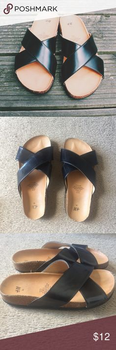 H&M Black Strap Sandals Like new! Size 6, (36) similar to Brickenstock sandals! Can also fit a size 5 (35) willing to negotiate! H&M Shoes Sandals