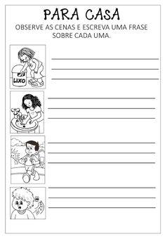 Criar Recriar Ensinar: PARA CASA Sistema Solar, Classroom, Words, Preschool Literacy Activities, Writing Activities, Letter Activities, Autism, Solar System, Class Room