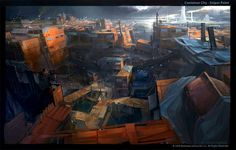environment concept art | Concept art for Brinks Container City (click to enlarge)