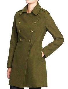 Wool Blend Military Style Coat, $59, Old Navy | 20 Winter Coats You Would See In Olivia Pope's Closet