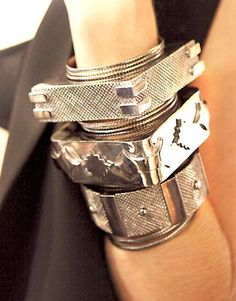 givemeaburger: Thick Silver Bangles http://esoteric-pieces-of-8.tumblr.com/