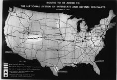 1950s- The Interstate Highway System was a network of highways connecting throughout the US, that is still growing and used for transportation today. Founded by former President Dwight D. Eisenhower, the system was funded by high marginal tax rates.