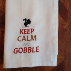 Embroidered Thanksgiving Dinner Napkin. by EmbroideryByDarlene