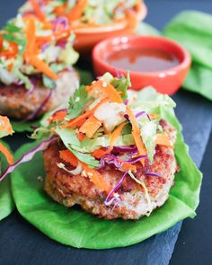 Chinese Chicken Salad Burgers Recipe
