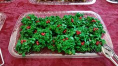 Corn flake holly with red hots