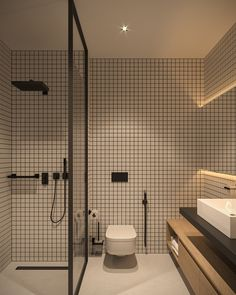 Tiny Apartment - small apartment interior design by Bezmirno Bathroom Design Luxury, Modern Bathroom Design, Bathroom Designs, Minimalist Bathroom Design, Contemporary Bathrooms, Design Bedroom, Modern Contemporary, Bad Inspiration, Bathroom Inspiration