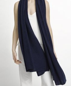 Shop the iconic White and Warren Cashmere Travel Wrap, which is the ultimate versatile accessory like a scarf or a small blanket for men or women. White And Warren, Cashmere Wrap, Travel Style, Spring Outfits, Sweaters, How To Wear, Clothes, Wraps, Navy