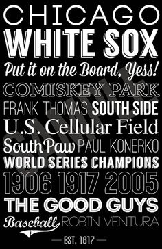 Chicago+White+Sox+Print+by+SarasPrints+on+Etsy,+$19.95