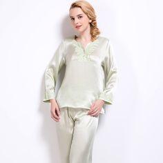22 momme elegant short silk pajamas set with trimming   Shorts ...