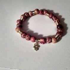 wooden charm bracelet by Adorabeadz