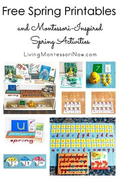 These free spring printables and Montessori-inspired spring activities are designed for preschoolers through first grade. Perfect for home or classroom - Living Montessori Now Preschool Activities At Home, Montessori Preschool, Preschool Lessons, Spring Activities, Montessori Elementary, Alphabet Activities, Toddler Activities, Spring Books, Book Baskets