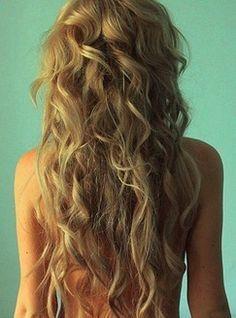 long messy curls.