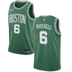 74a0c36fd3a Nike Celtics  6 Bill Russell Green Youth NBA Swingman Icon Edition Jersey  John Havlicek
