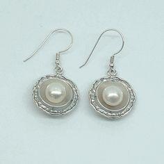 $69 Pearls earrings on silver