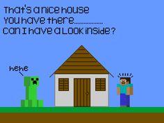 creeper meme fan art :) from minecraft