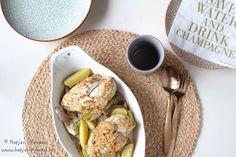 Ovenschotel met kip, artisjokken en krielaardappelen