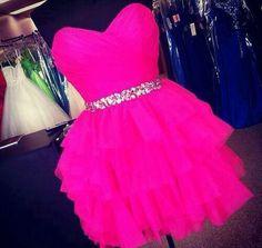 Teens fashion- buetiful flare pink dress