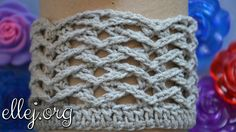 Ребристый узор крючком Чайки (по кругу). Seagulls crochet stitch