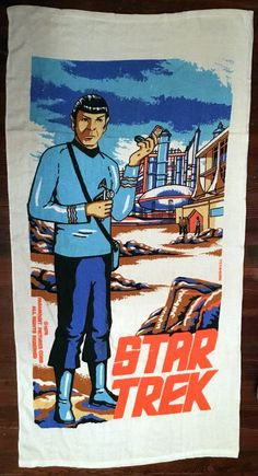 So this morning I had a wonderful email containing photos of my pal Corey's amazing collection of vintage Star Trek towels . Star Trek, Towels, Baseball Cards, Stars, Vintage, Collection, Twitter, Beach, Amazing