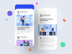 Dribbble - by Bakhtiyar Ui Design Mobile, App Ui Design, Interface Design, Menu Design, User Interface, Kit, Library App, Finance, Website Design Layout