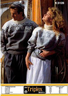 Oslo-genseren K 5128 Norwegian Style, Norwegian Knitting, Vintage Knitting, Time Travel, Knitting Patterns, The Past, High Neck Dress, Ruffle Blouse, Pullover