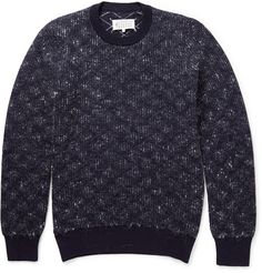 Maison Martin MargielaPatterned Knitted Wool and Mohair-Blend Sweater