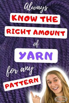 Learn how to calculate how much yarn you need for any or a specific pattern. Crochet and Knitting. It includes a written and video tutorial.  #crochet #pattern #crochetpattern #freecrochetpattern #crochettechniques  #tutorial #crochettutorial #diy #diyideas #giftideas #tipsandtricks #crochetstitch #yarn #calculate Knitting Designs, Knitting Patterns Free, Knitting Projects, Crocheting Patterns, Crochet Designs, Stitch Patterns, Crochet Stitches, Crochet Hooks, Free Crochet