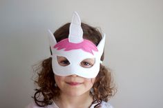 Beautiful handmade soft felt Unicorn Mask. Perfect for dress-ups and inspiring imaginative play.  Masks are crafted, cut and lovingly embellished by hand. All masks are made from at least 2 layers of highest quality Merino wool felt for comfort and durability and elastic is double stitched to withstand even the most enthusiastic of play!  Age 3+  Gift wrapping is available, please select it as a separate item from my shop to add to your order.  * colours may vary slightly  Masks should be…
