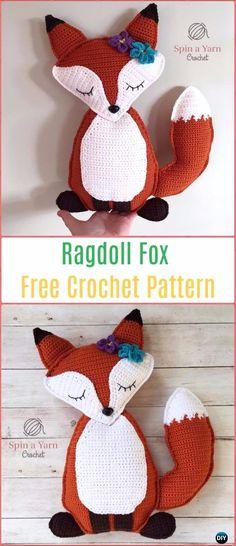 Amigurumi Crochet Ragdoll Fox Free Pattern - Crochet Amigurumi Fox Free Patterns